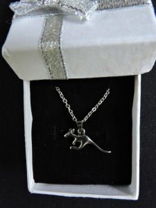 Kangaroo antique silver